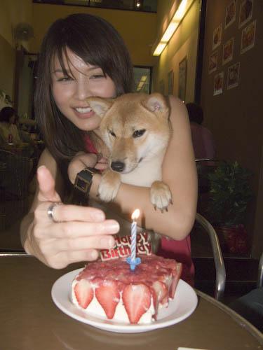 Mika & her cake