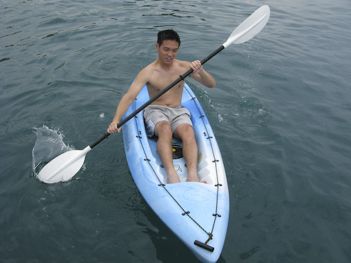 IMG_1408 - Wayne off in the Kayak