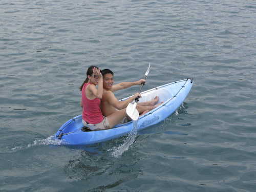 IMG_1409 - Wayne and Ailin off in the Kayak